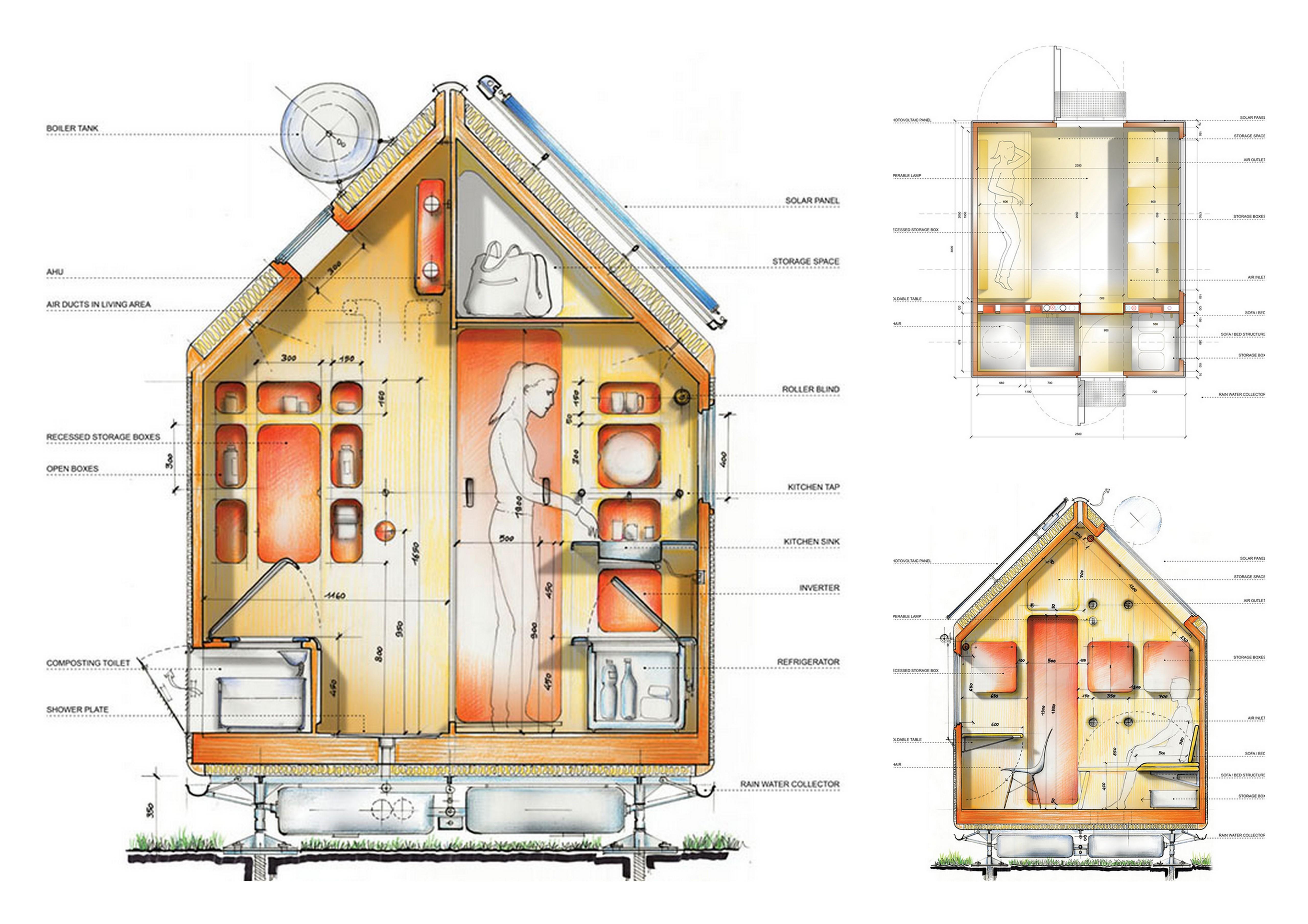 diogene le cabanon autosuffisant de demain la mini. Black Bedroom Furniture Sets. Home Design Ideas