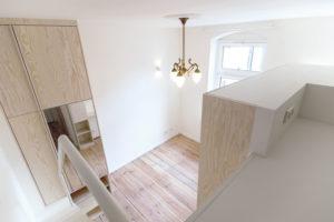 vue de la mezzanine micro-appartement-studio-21m2-berlin-paola-bagna-spamroom
