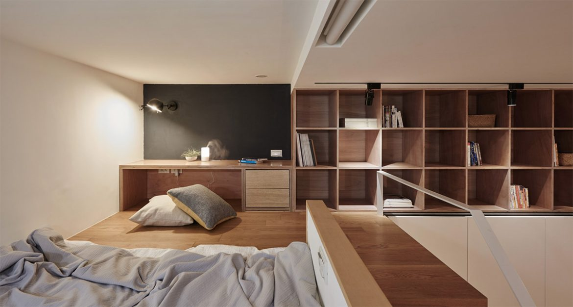 un petit appartement de 22 m2 la mini. Black Bedroom Furniture Sets. Home Design Ideas