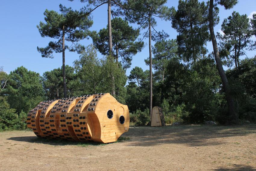 dormez dans un tronc d arbre am nag la mini. Black Bedroom Furniture Sets. Home Design Ideas