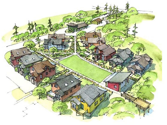 le petit quartier de mini maisons sherbrooke la mini. Black Bedroom Furniture Sets. Home Design Ideas