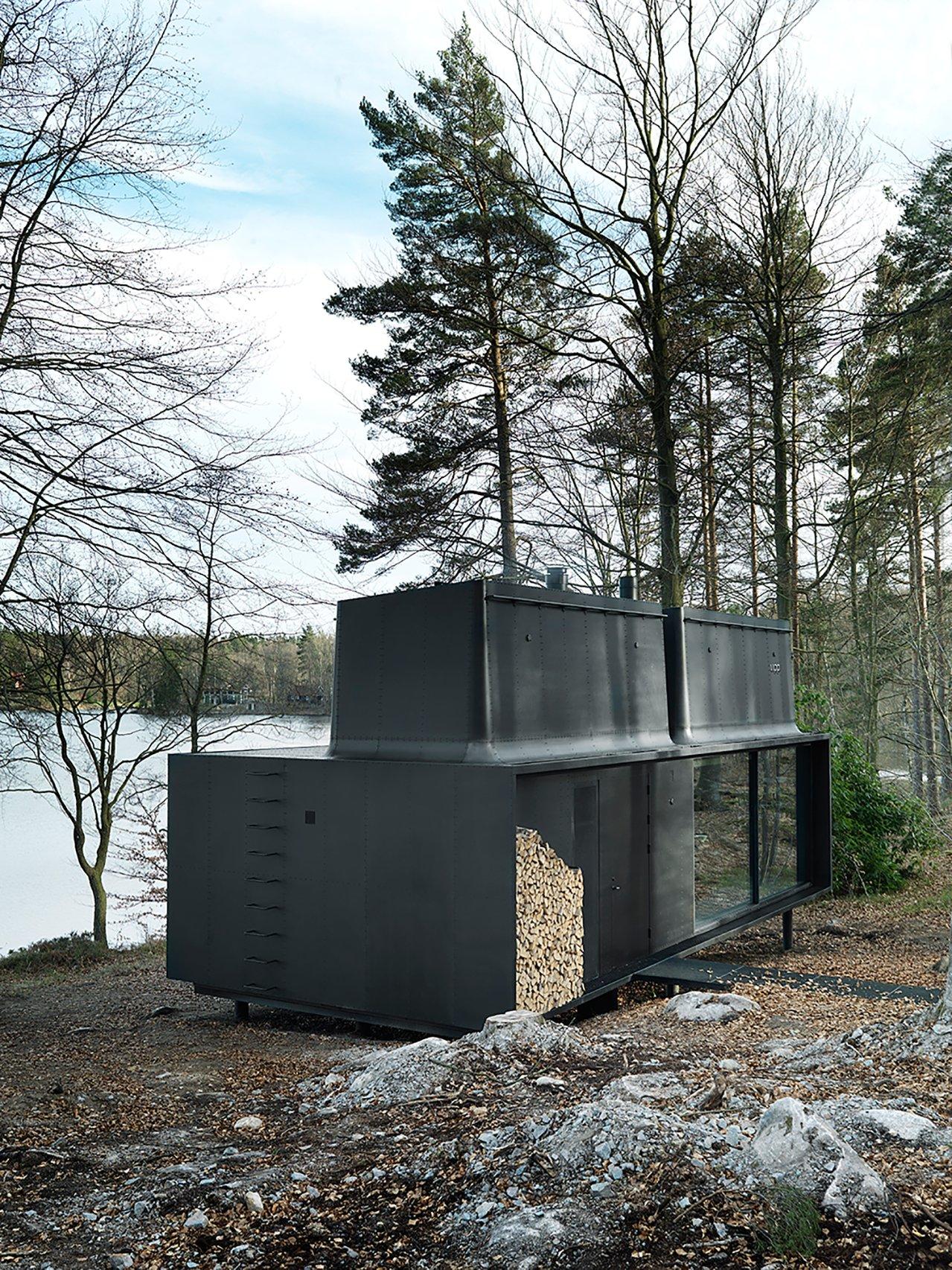 une maison pr fabriqu e de luxe la mini. Black Bedroom Furniture Sets. Home Design Ideas