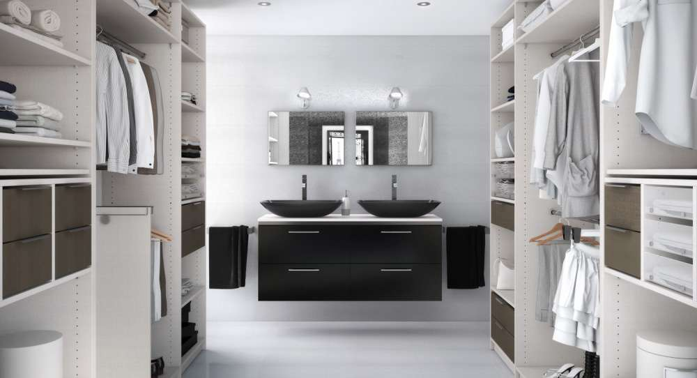 dressing dans la salle de bain bonne mauvaise id e la mini. Black Bedroom Furniture Sets. Home Design Ideas