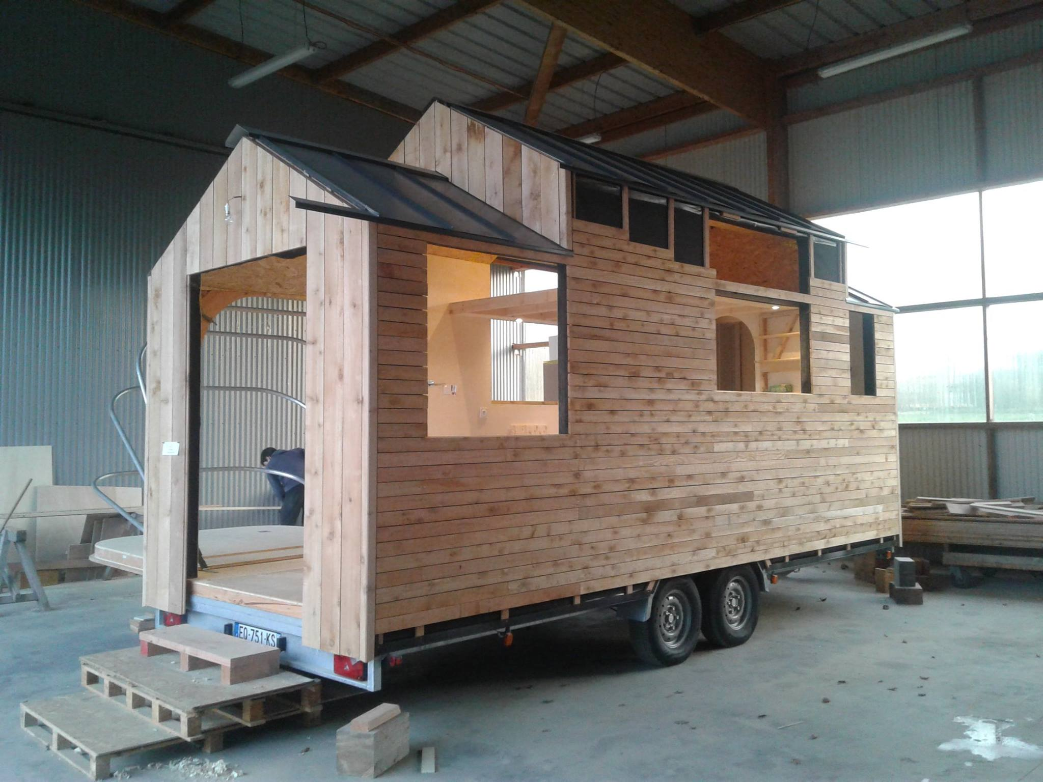 koateco construit une tiny house la mini. Black Bedroom Furniture Sets. Home Design Ideas