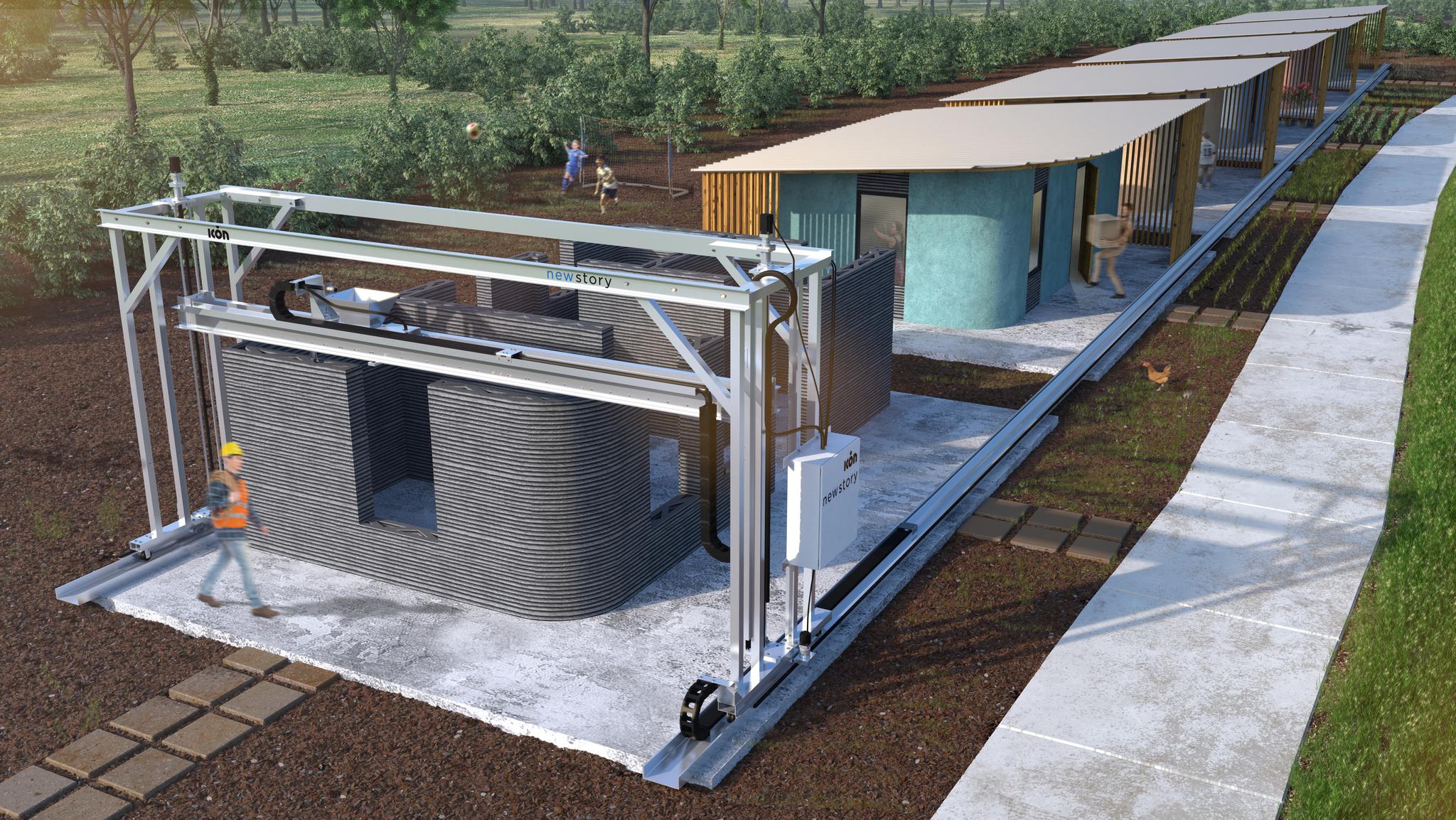 Icon une maison est sortie de terre en quelques heures for Construction de maison imprimante 3d