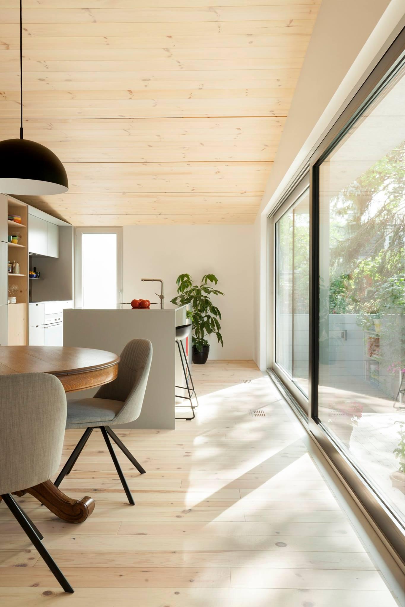 kit de maison en bois rond construction chalet usin prestige home scandinave poteau fremode.com