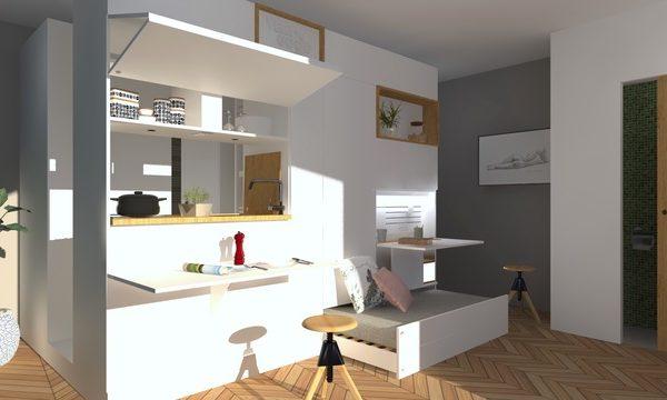 kasita la mini maison intelligente la mini. Black Bedroom Furniture Sets. Home Design Ideas