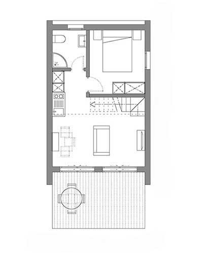 vivre en famille dans une petite maison de 64m22 la mini. Black Bedroom Furniture Sets. Home Design Ideas